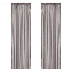 Ikea Vivan Solid Gray Curtains 57 X 98
